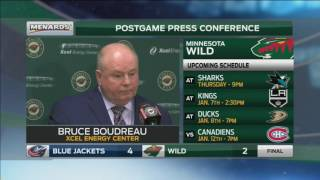 Boudreau: The loss of Matt Dumba was a tough one