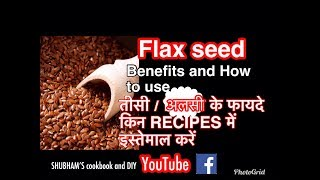 अलसी के बीज के फायदे । Health and Beauty benefits of Flax Seeds in hindi