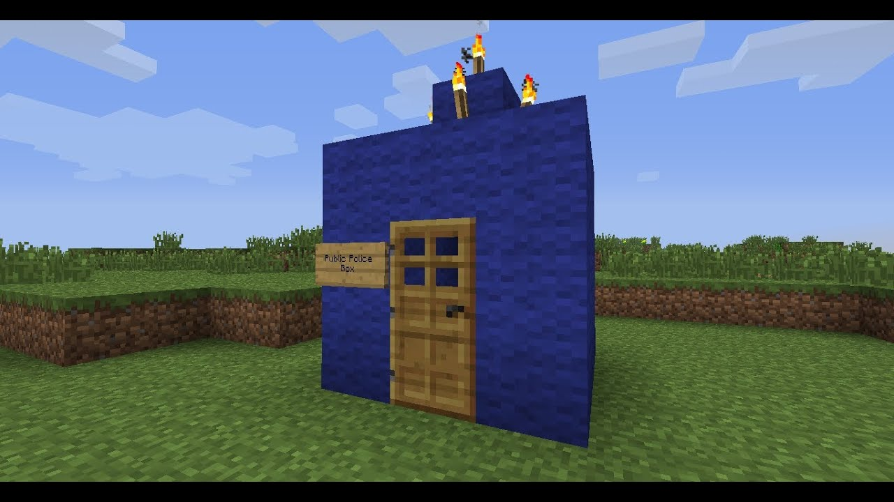 fully working tardis in minecraft 15 youtube