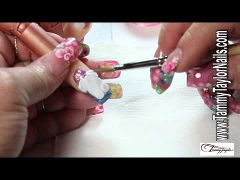 Easter Nail Art: 3D Easter Bunny