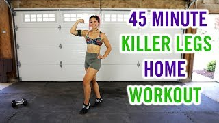 50 Minute KILLER Home Legs Workout | Strength and Cardio Leg Day Burn!