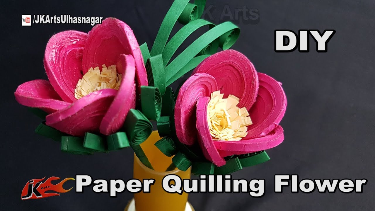 how to make paper quilling flowers