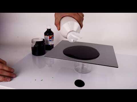 "Acrylic Paint Pour - ""less is more"""