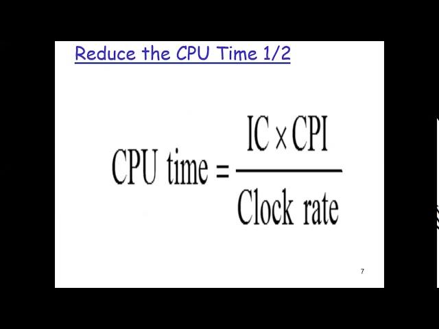Computer Architecture: Perforamance 02b