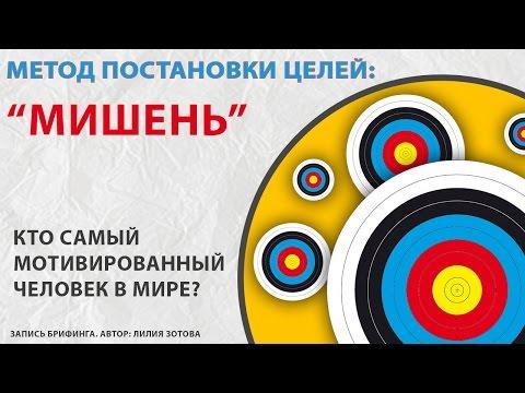 "Метод Постановки целей  ""Мишень""  Автор Лилия Зотова (брифинг)"