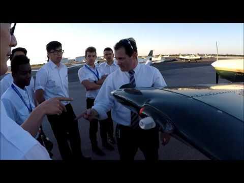 Aviator College-happy outdoor preflight lesson
