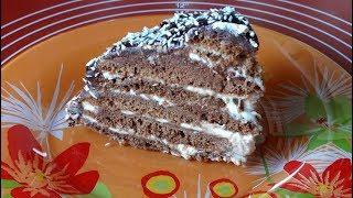 Торт Черепаха. Шоколадный, Упрощенный Вариант. Очень Вкусный и Простой Рецепт/Chocolate cake