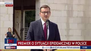 Premier Morawiecki o aktualnej sytuacji epidemicznej w Polsce