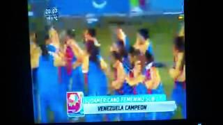 Celebración Vinotinto Femenino Sub 17 en el Sudamericano
