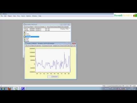 La Méthode de Box-Jenkins avec EVIEWS -1-stationnarisation du série HD