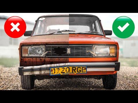 20 лет без мойки: люксовая праворульная пятерка - нашли и отмыли Lada Riva для Англии #тачказарубль
