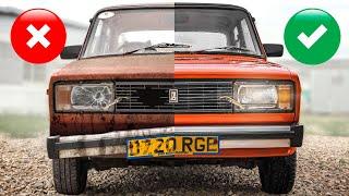 20 лет без мойки: люксовые праворульные Жигули - нашли и отмыли английскую Lada Riva  #тачказарубль