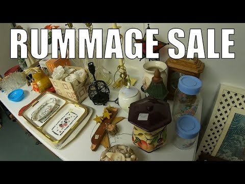 Rummage Sale Treasure Hunting! A New Experience...