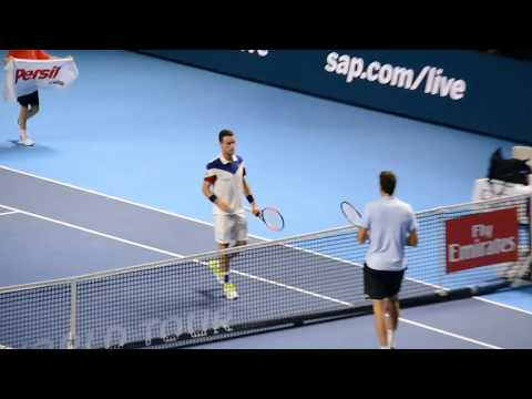 Del Potro Hitting at Basel 2017 filmed by audience