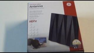 GE 24703 Flat Panel Indoor TV Antenna Unboxing