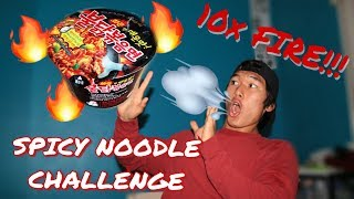 EXTREME SPICY NOODLE CHALLENGE(10X MORE FIRE)