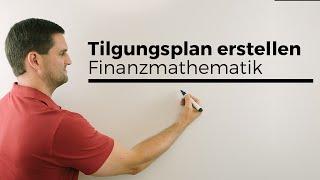 Tilgungsplan erstellen bei gleicher Annuität, Bausparen, Darlehen, Finanzmathematik