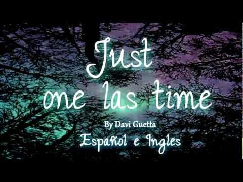 David Guetta Just one last time en Español e Ingles