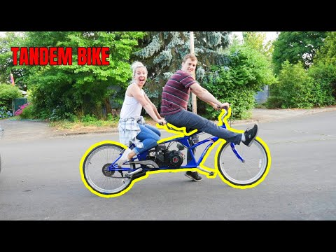 we motorize this 2 seater bicycle for under $200