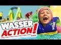 COOLSTE Wasser Hüpfburg Der Welt? FUN Im Beach Park Mit Lulu & Leon - Family And Fun