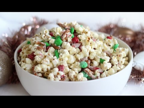 Christmas Crunch Popcorn | Christmas Recipe