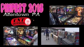 #959 PINFEST 2015 Allentown PA-Pinball Machines GALORE! TNT Amusements