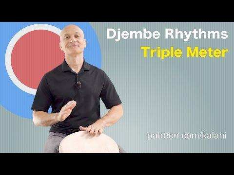 Djembe Rhythms in Triple Meter