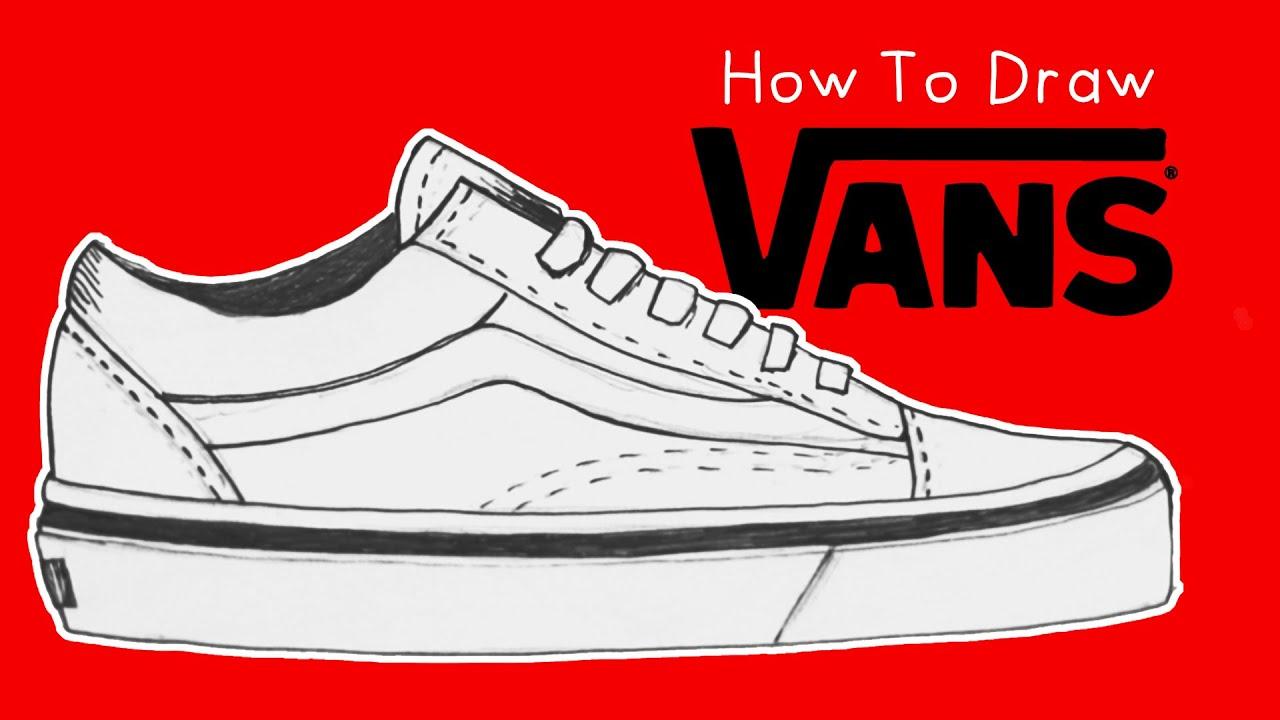 How to Draw Vans Old-School Sneakers