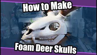 //Skull Base Tutorial #3// Deer Skull For Fursuit & Cosplay + Template/Pattern