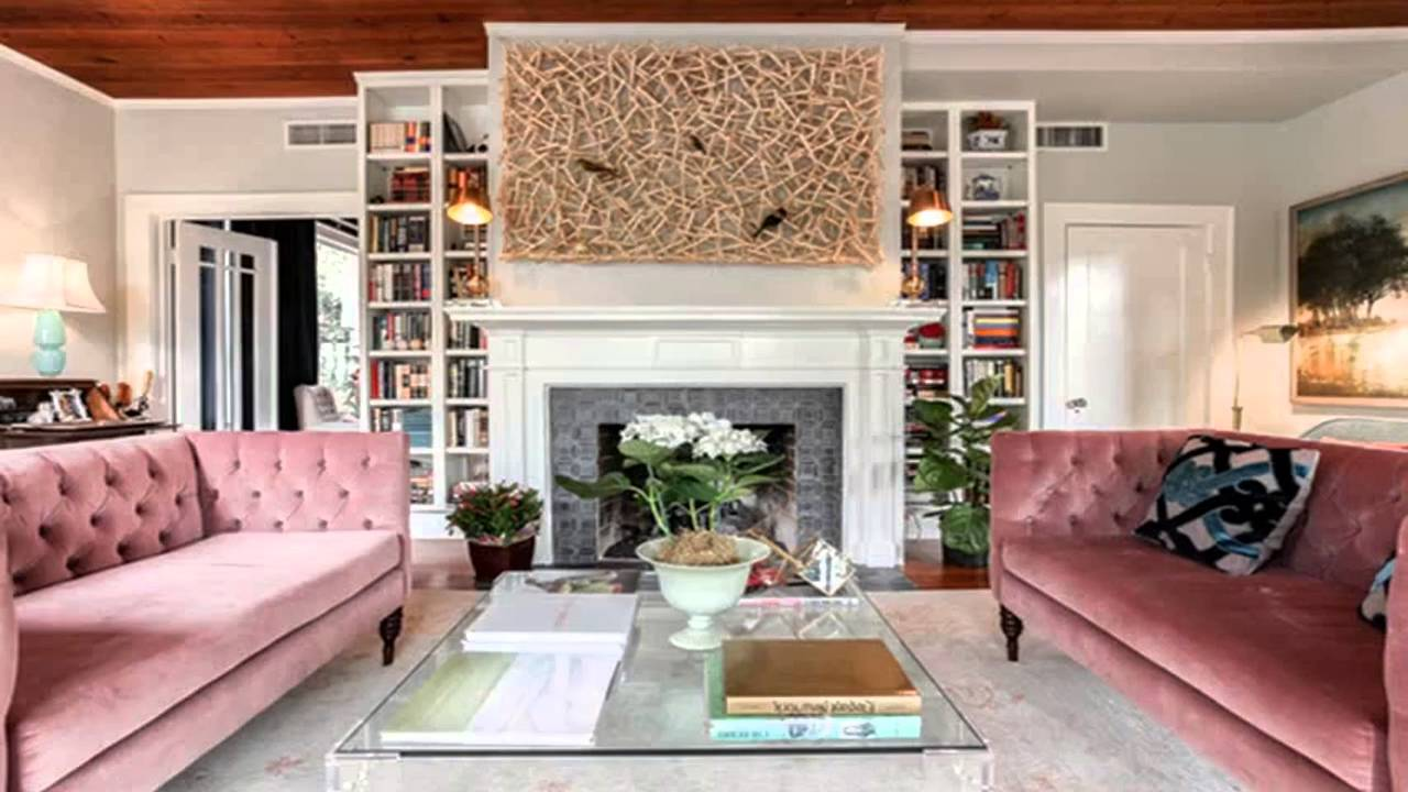 ideas for decorating plush pink sofa living room