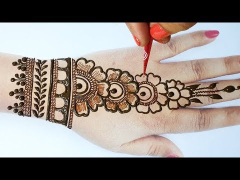 Easy Karwachauth Mehndi - आसान शेडेड करवाचौथ स्पेशल मेहँदी लगाना सीखे,New Karwa Chauth Mehndi Design