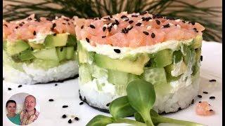 Салат «СУШИ» | Рецепт для тех, кто не умеет делать суши!