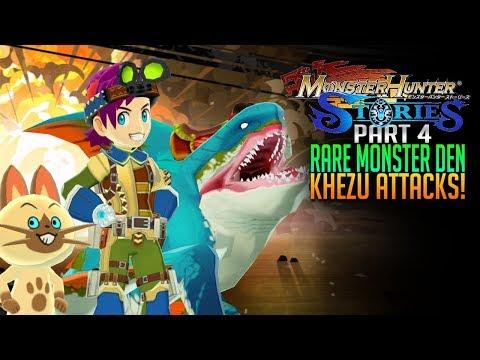 Monster Hunter Stories Gameplay E4  - Rare Monster Den! ? Zamtrios and Khezu thumbnail