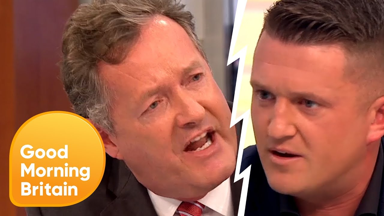 Piers Confronts Tommy Robinson Over Controversial Muslim Comments Good Morning Britain