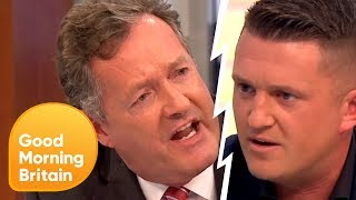 Piers Confronts Tommy Robinson Over Controversial Muslim Comments | Good Morning Britain