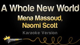 Gambar cover Mena Massoud, Naomi Scott  - A Whole New World (Karaoke Version)