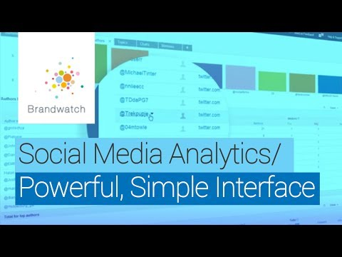 Brandwatch's Interface for Social Media Analytics