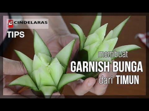TIPS - Membuat Garnish Bunga Dari Timun