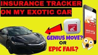 State Farm Insurance Tracker on my Acura NSX. What was I thinking?