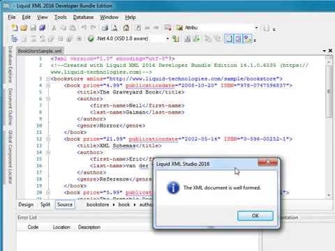 Validate XML using Liquid XML Studio