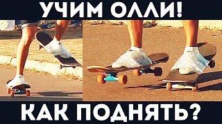 Простые легкие скейт трюки для новичков - Как поднять скейт - Как прыгать олли - Скейт скотч