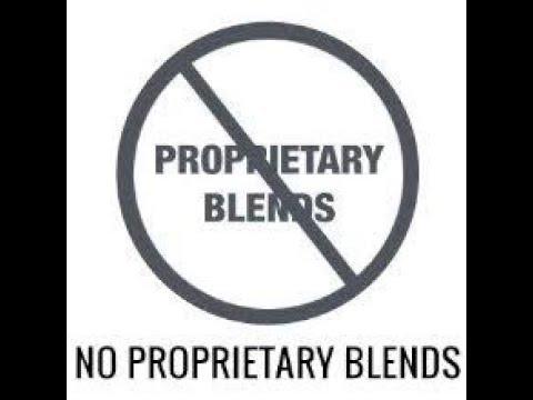 Im SO sorry for making Proprietary blends! (new inf