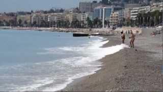 Nice beaches  France Лазурный берег Пляжи Ниццы 05.09.12.(Пляжи в Ницце почти повсеместно галечные. Вода на пляжах Ниццы всегда чистая и действительно лазурного..., 2012-10-02T19:25:58.000Z)