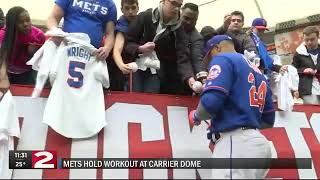 Mets workout at Carrier Dome