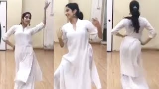 Jhanvi Kapoor KATHAK Dance Practice For Her New Movie TAKHT 2019
