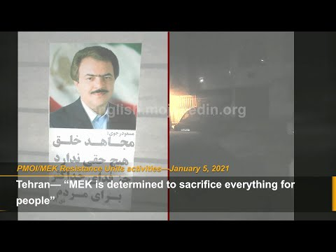 """MEK is determined to sacrifice everything for people"" Resistance Units"