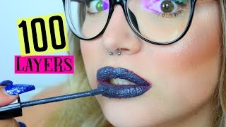 100 LAYERS: OF LIQUID LIPSTICK!! FAIL!! | ilamakeup02♡