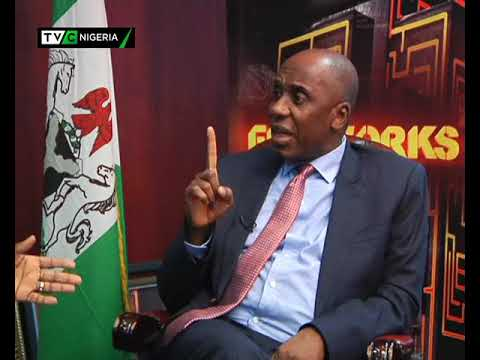 Fireworks with Minister of Transportation, Rotimi Amaechi