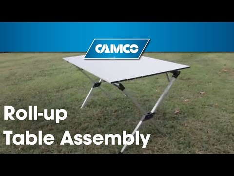 Roll-up Table (Pre-2016): Assembly instructions