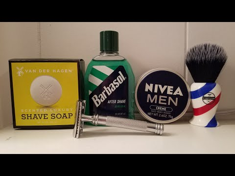 Head Shave of the Day - Haircut and Shave Co Barber Pole Brush, Van Der Hagen Luxery Shave Soap